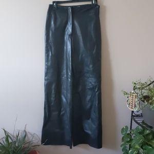 Margaret Godfrey leather wide leg pants size 6